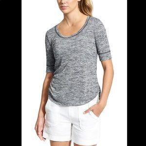 Athleta Breezy Tee Striped Modal T-Shirt XS